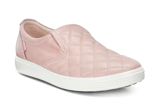 ECCO Soft 7 Quilted Slip On (ROSE DUST/ROSE DUST)