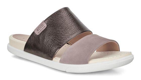 ECCO Damara Slide Sandal II (LICORICE/DEEP TAUPE)