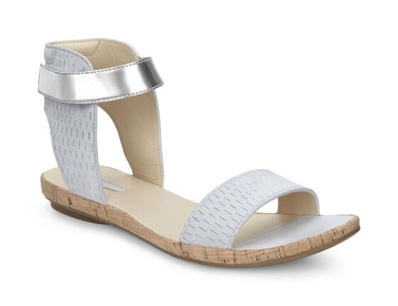 ECCO Tabora 15 Ankle Sandal (CONCRETE/CONCRETE-SILV.M/SILV.M)