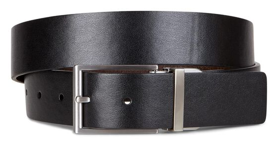 ECCO Michael Formal Belt (BLACK/COCOA BROWN)