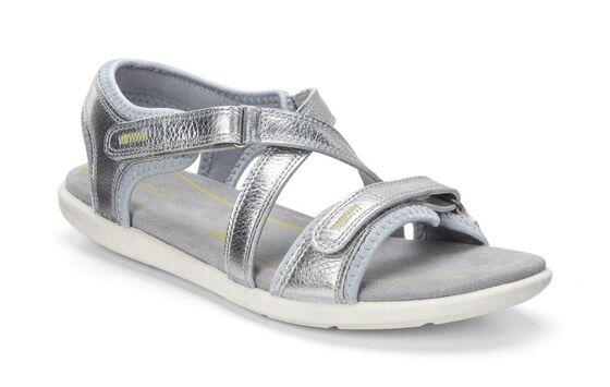ECCO Bluma Strap Sandal (ALUSILVER)