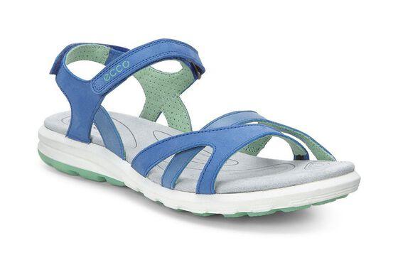 ECCO Womens Cruise Sandal Plus (COBALT/COBALT/GRANITE GREEN)