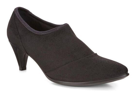 ECCO Shape 45 Kitten Heel Shoe (BLACK/BLACK)