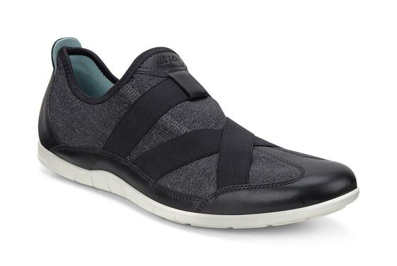 ECCO Bluma Slip On (BLACK/BLACK-WHITE/BISCAYA)