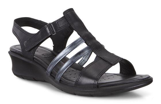 ECCO Felicia Ankle Sandal (BLACK/BLACK)