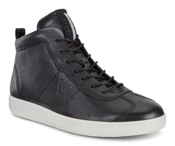 ECCO Mens Soft 1 High Top (BLACK)
