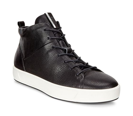 ECCO Wmns Soft 8 High Top (BLACK)