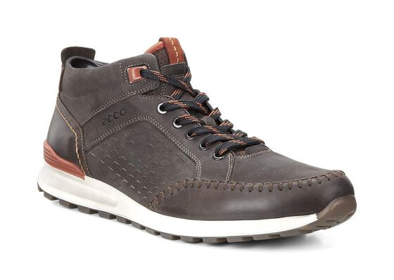 ECCO Mens CS14 Retro Boot (COFFEE/LICORICE/PICANTE)
