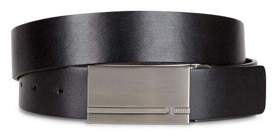 ECCO Henrik Formal Belt (BLACK/COCOA BROWN)