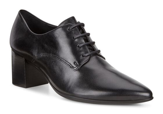 ECCO Shape 45 Block Heel Tie (BLACK)