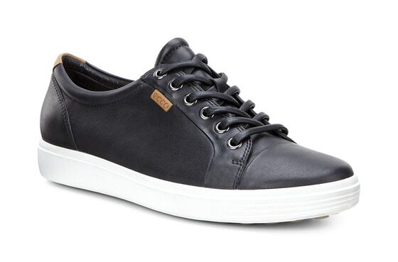 ECCO Womens Soft 7 Sneaker (BLACK)