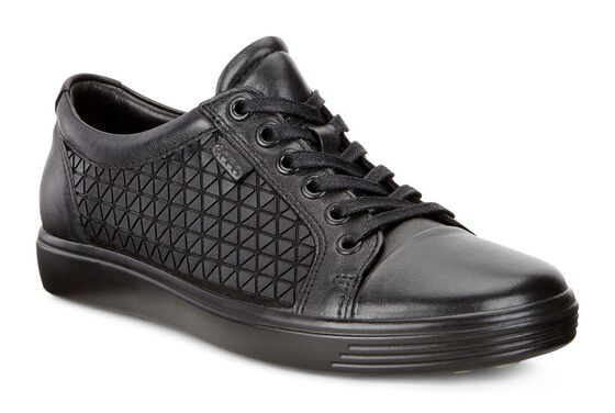 ECCO Soft 7 Sneakers (BLACK/BLACK)