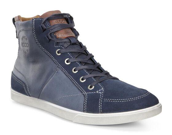 ECCO Collin Boots (MARINE/MARINE/COGNAC)