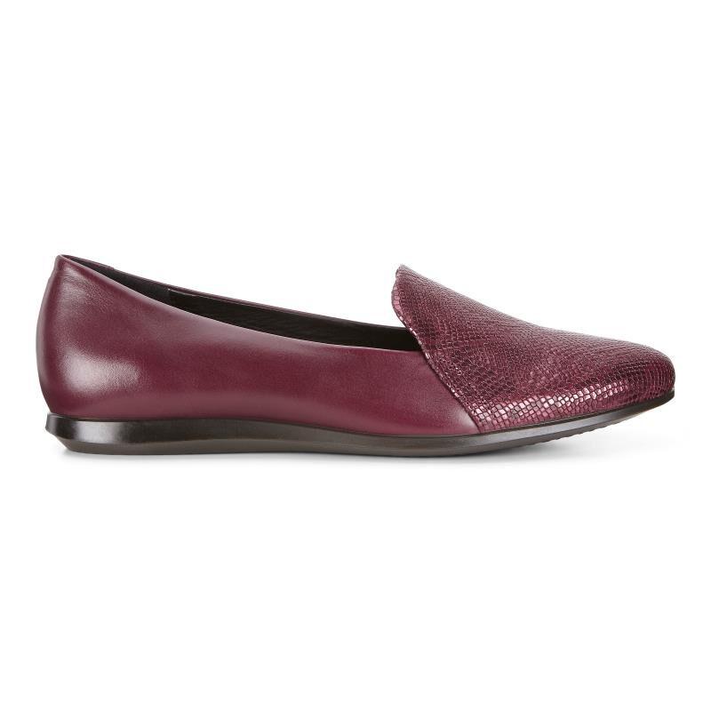 ECCO Black Leather Slip On Ballerina Pumps Shoe Womens Size EU 41 US 10/10.5