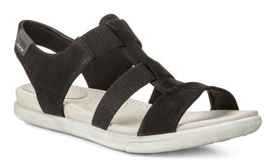 ECCO Damara Elastic Sandal (BLACK)