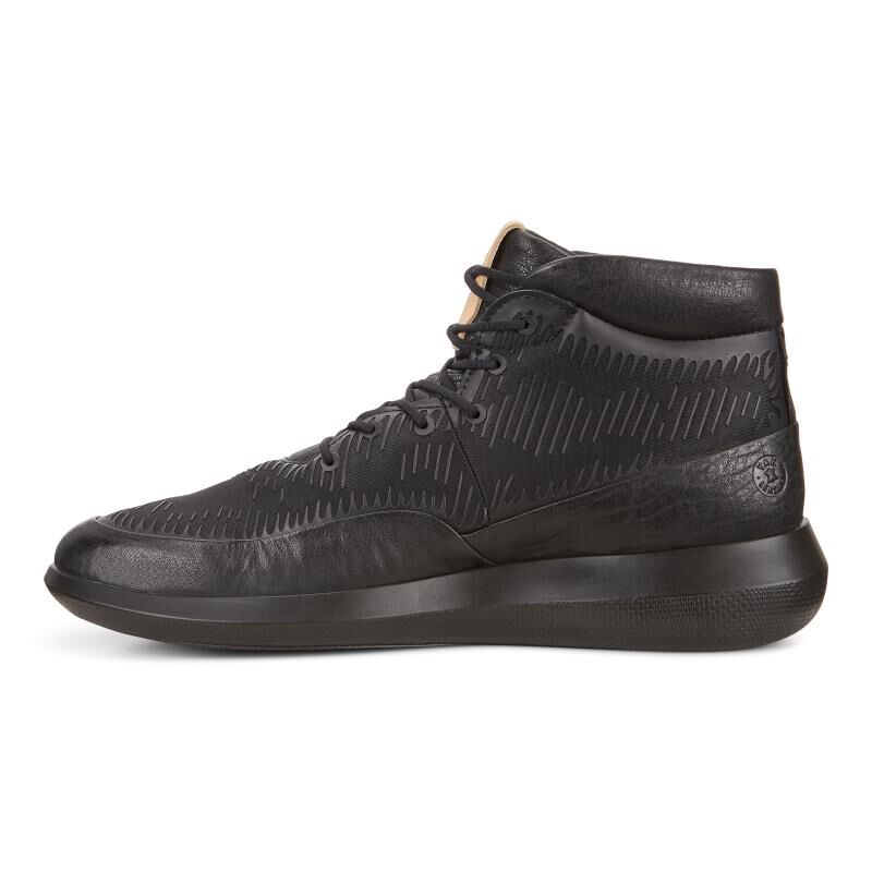 ... ECCO Mens Scinapse HighECCO Mens Scinapse High BLACK/KIWI (50659) ...