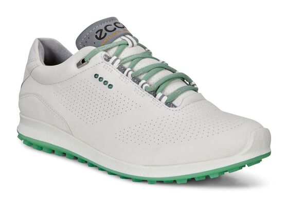 ECCO Womens BIOM Hybrid 2 Perf (WHITE/GRANITE GREEN)