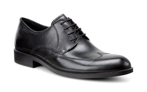 ECCO Harold Wing Tip Tie (BLACK)