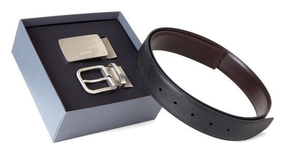 ECCO Hoven Belt Box (BLACK/COFFEE)