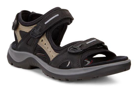 ECCO Womens Offroad Sandal (BLACK/MOLE/BLACK)