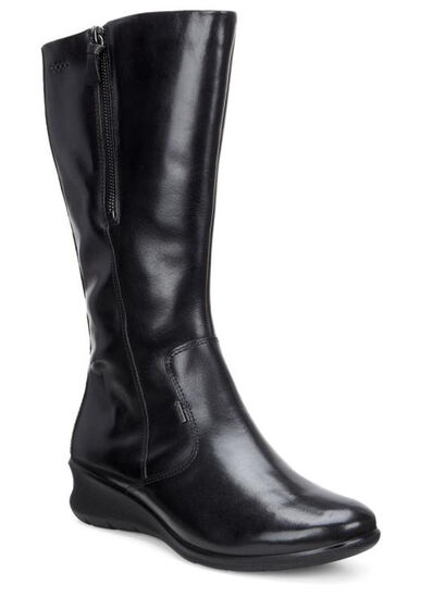 ECCO Babett Wedge Tall Boot (BLACK)