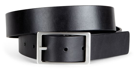 ECCO Hesa Reversible Belt (BLACK/SLATE)