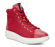 ECCO Womens Soft 3 High TopECCO Womens Soft 3 High Top in CHILI RED/CHILI RED (55183)