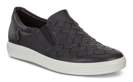 ECCO Womens Soft 7 Woven (BLACK)