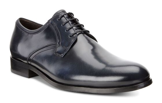 ECCO Irvington Plain Toe Tie (NAVY/NAVY)