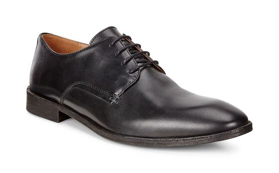 ECCO Leeds Plain Toe Tie (BLACK)