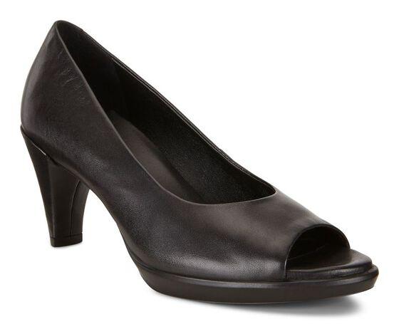 ECCO Shape 55 Peep Toe Sleek (BLACK)
